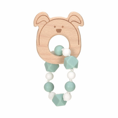 Bijt ketting | Sillicone/Hout | Little Chums Dog