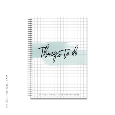 Notitieboekje | Things to do | Groen | A5