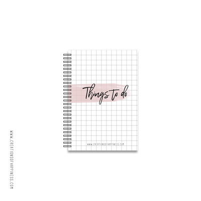 Notitieboekje | Things to do | Roze | A6