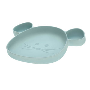 Bord | Silicone | Little chums Mouse | Blauw